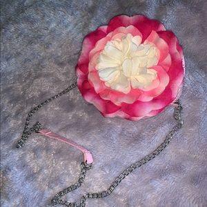 Pink round flower bag